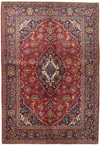 Kashan Tapis 147X215 D'orient Fait Main Rouge Foncé/Violet Foncé (Laine, Perse/Iran)