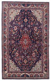 Sarough Sherkat Farsh Matta 129X212 Äkta Orientalisk Handknuten Mörklila/Ljusgrå (Ull, Persien/Iran)