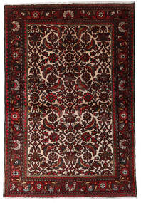 Hamadan Rug 98X147 Authentic  Oriental Handknotted Dark Red/Dark Brown (Wool, Persia/Iran)