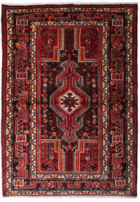 Hamadan Teppe 114X160 Ekte Orientalsk Håndknyttet Mørk Rød (Ull, Persia/Iran)