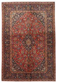 Keshan Teppich  138X206 Echter Orientalischer Handgeknüpfter Dunkelbraun/Dunkelrot (Wolle, Persien/Iran)