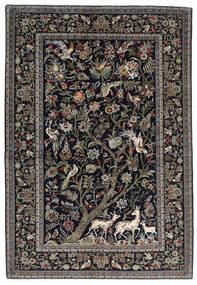 Keshan Teppe 145X211 Ekte Orientalsk Håndknyttet Mørk Grå/Lys Grå (Ull, Persia/Iran)