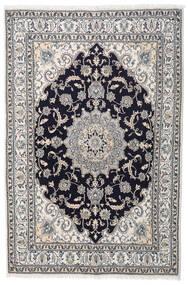 나인 러그 164X245 정품 오리엔탈 수제 라이트 그레이/다크 퍼플 (울, 페르시아/이란)