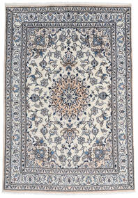 Nain Teppe 165X237 Ekte Orientalsk Håndknyttet Mørk Grå/Lys Grå (Ull, Persia/Iran)