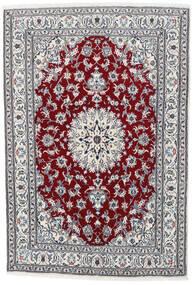 Nain Teppich  164X235 Echter Orientalischer Handgeknüpfter Hellgrau/Weiß/Creme (Wolle, Persien/Iran)