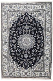 나인 러그 197X290 정품  오리엔탈 수제 라이트 그레이/다크 그레이 (울, 페르시아/이란)