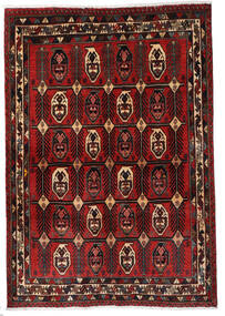 Afshar Vloerkleed 120X172 Echt Oosters Handgeknoopt Donkerrood/Donkerbruin (Wol, Perzië/Iran)