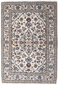 Keshan Teppich 99X146 Echter Orientalischer Handgeknüpfter Hellgrau/Dunkelgrau (Wolle, Persien/Iran)