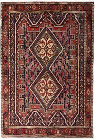 Afshar Shahre Babak Teppe 125X182 Ekte Orientalsk Håndknyttet Mørk Rød/Mørk Brun (Ull, Persia/Iran)
