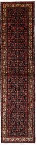 Hosseinabad Tæppe 100X405 Ægte Orientalsk Håndknyttet Tæppeløber Mørkerød/Mørkebrun (Uld, Persien/Iran)