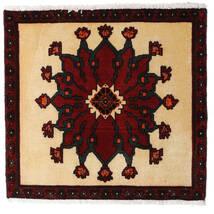 Ghashghai Teppe 62X65 Ekte Orientalsk Håndknyttet Kvadratisk Mørk Rød/Mørk Beige (Ull, Persia/Iran)