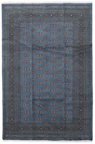 パキスタン ブハラ 3Ply 絨毯 206X307 オリエンタル 手織り 青/濃いグレー (ウール, パキスタン)