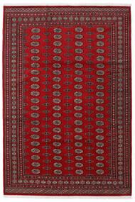 Pakistan Bokhara 2Ply Tæppe 199X295 Ægte Orientalsk Håndknyttet Mørkerød/Rød (Uld, Pakistan)