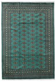 パキスタン ブハラ 2Ply 絨毯 189X274 オリエンタル 手織り ターコイズ/濃いグレー (ウール, パキスタン)