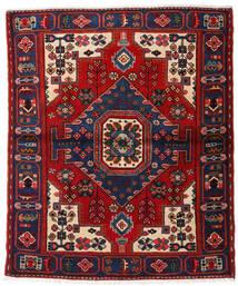 Hamadan Teppe 120X144 Ekte Orientalsk Håndknyttet Svart/Rust (Ull, Persia/Iran)