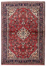 Hamadán Szőnyeg 106X155 Keleti Csomózású Fekete/Piros (Gyapjú, Perzsia/Irán)
