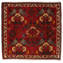 Ghashghai Teppe 63X65 Ekte Orientalsk Håndknyttet Kvadratisk Mørk Rød/Rød (Ull, Persia/Iran)