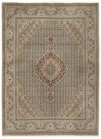 Tabriz 50 Raj With Silk Rug 155X210 Authentic  Oriental Handknotted Light Grey/Light Brown (Wool/Silk, Persia/Iran)
