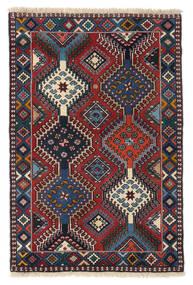 Yalameh Alfombra 83X125 Oriental Hecha A Mano Gris Oscuro/Azul Oscuro/Rojo Oscuro (Lana, Persia/Irán)