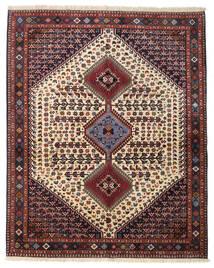 Yalameh Dywan 155X193 Orientalny Tkany Ręcznie Ciemnobrązowy/Ciemnoczerwony (Wełna, Persja/Iran)