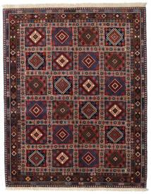 Yalameh Dywan 150X190 Orientalny Tkany Ręcznie Ciemnoczerwony/Ciemnoszary (Wełna, Persja/Iran)