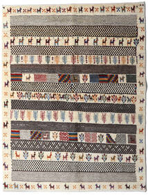 Gabbeh Persia Tappeto 151X197 Moderno Fatto A Mano Marrone Scuro/Grigio Chiaro/Beige (Lana, Persia/Iran)