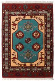 Turkaman Tæppe 138X193 Ægte Orientalsk Håndknyttet Mørkerød (Uld, Persien/Iran)