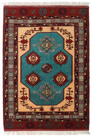 Turkaman Teppe 138X193 Ekte Orientalsk Håndknyttet Mørk Rød (Ull, Persia/Iran)