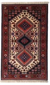 Yalameh Teppe 78X128 Ekte Orientalsk Håndknyttet Mørk Rød (Ull, Persia/Iran)