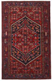 Hamadán Szőnyeg 132X213 Keleti Csomózású Sötétpiros (Gyapjú, Perzsia/Irán)