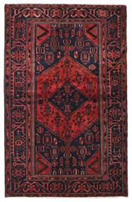Hamadan Covor 129X202 Orientale Lucrat Manual Maro Închis/Roșu-Închis (Lână, Persia/Iran)