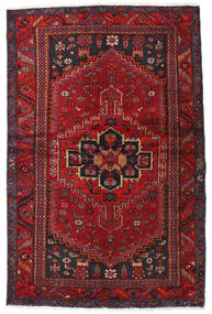 Hamadan Tæppe 131X201 Ægte Orientalsk Håndknyttet Mørkerød/Mørkebrun (Uld, Persien/Iran)