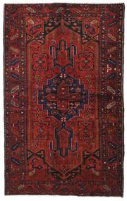 Hamadan Dywan 131X210 Orientalny Tkany Ręcznie Ciemnoczerwony (Wełna, Persja/Iran)