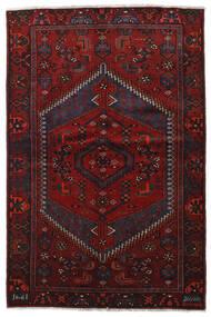 Hamadan Tæppe 136X204 Ægte Orientalsk Håndknyttet Mørkerød (Uld, Persien/Iran)