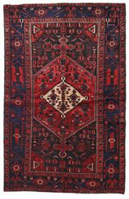 Hamadan Rug 134X208 Authentic  Oriental Handknotted Dark Red/Black (Wool, Persia/Iran)