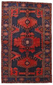 Hamadán Szőnyeg 132X211 Keleti Csomózású Sötétlila/Sötétpiros (Gyapjú, Perzsia/Irán)