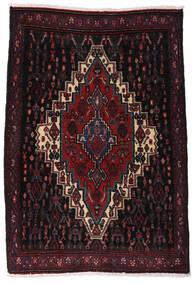 Senneh Teppe 70X102 Ekte Orientalsk Håndknyttet Mørk Rød (Ull, Persia/Iran)