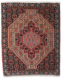 Senneh Χαλι 80X101 Ανατολής Χειροποιητο Μαύρα/Σκούρο Καφέ (Μαλλί, Περσικά/Ιρανικά)