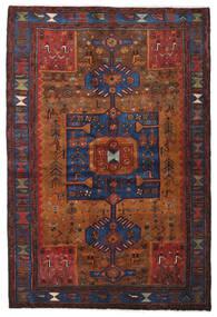 Hamadan Vloerkleed 138X204 Echt Oosters Handgeknoopt Donkerrood/Donkerbruin (Wol, Perzië/Iran)