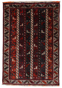 Shiraz Teppich  84X121 Echter Orientalischer Handgeknüpfter Dunkelbraun/Dunkelrot (Wolle, Persien/Iran)