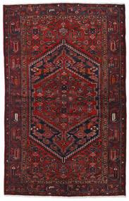 Hamadan Tæppe 129X205 Ægte Orientalsk Håndknyttet Mørkerød (Uld, Persien/Iran)