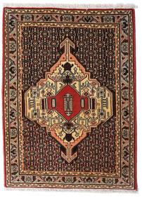 Senneh Teppich  76X105 Echter Orientalischer Handgeknüpfter Dunkelrot/Hellbraun (Wolle, Persien/Iran)