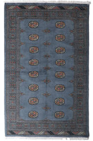 Pakistan Bokhara 3Ply Rug 4′6″X6′11″ Authentic  Oriental Handknotted Dark Grey/Blue (Wool, Pakistan)