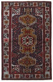 Hamadan Χαλι 132X208 Ανατολής Χειροποιητο Σκούρο Κόκκινο/Σκούρο Γκρι (Μαλλί, Περσικά/Ιρανικά)