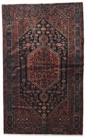 Hamedan Koberec 140X224 Orientální Ručně Tkaný Černá/Tmavě Hnědá (Vlna, Persie/Írán)