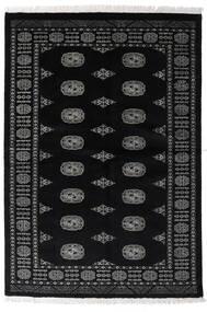 Pakistan Bokhara 3Ply Tæppe 135X196 Ægte Orientalsk Håndknyttet Sort/Mørkegrå (Uld, Pakistan)