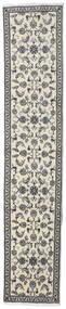 Nain Teppe 78X384 Ekte Orientalsk Håndknyttet Teppeløpere Mørk Grå/Lys Grå/Beige (Ull, Persia/Iran)