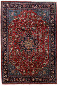 Mahal Rug 213X310 Authentic Oriental Handknotted Dark Red/Black (Wool, Persia/Iran)