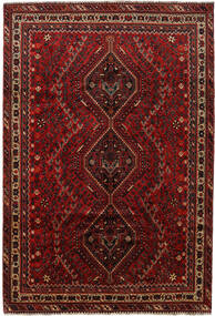 Shiraz Rug 203X300 Authentic Oriental Handknotted Dark Red (Wool, Persia/Iran)