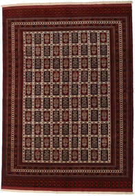 Turkaman Tæppe 208X289 Ægte Orientalsk Håndknyttet Mørkebrun/Mørkerød (Uld, Persien/Iran)